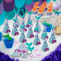 10pcs Mermaid Candy Boxes Kids Birthday Gift Bag Baby Shower Party Favor Decor