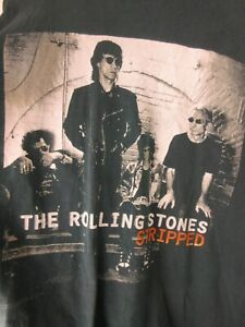 Vintage The Rolling Stones Stripped 1997 Tour Mens T Shirt Size XL Crew Tee Rare