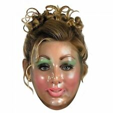 Transparent Clear Female Woman Mask Creepy Face on Elastic Band