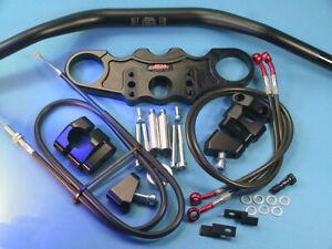 Abm Superbike Booster Handlebar Kit Kawasaki ZX-12 R (ZXT20A) 04-ff Black