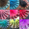 H82 Floral Tulle Lace Trim Ribbon Embroidery Feather Wedding Fabric Sewing DIY