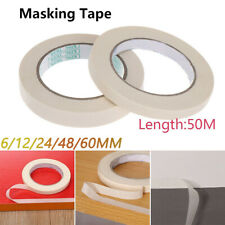 Masking Tape Rolls Indoor Outdoor DIY Painting Decorating Easy Tear 6-60MM*50M~