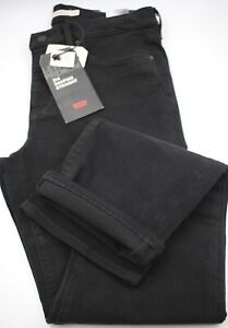 Levis Premium Womens 314 Shaping Straight Black W/ Genuine Leather Patch 31/32