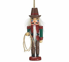 Cowboy Nutcracker Western Wooden Christmas Tree Ornament burton+BURTON