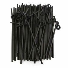 Disposable Straws 100PCS Black Plastic Drinking Flexible Tube Party Bar Supplies