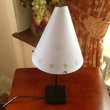 Lovely SERVLITE Table Lamp with Cone Shaped Shade on Black Steel Base