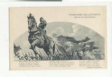 CARTOLINA antica militare preghiera dell' avvento gabriele d' annunzio