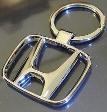 Honda Heavy Metal Alloy Chrome Key Chain Ring Car City Amaze Brio Accord BRV