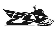"""Fly Racing Snow Snowmobile SNX Racing Decal Set Two 8"""" Black & White Stickers"""