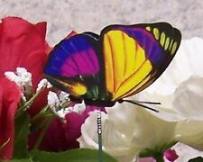 """Garden Decor Flower Pot Plant Pick Stake Colorful Butterfly NEW 12"""" tall #21"""
