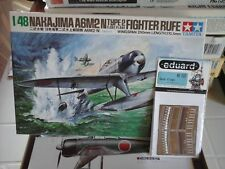 "NAKAJIMA A6M2N TYPE 2 FIGHTER ""RUFE"" 1/48 SCALE TAMIYA MODEL+PHOTOETCHED FLAPS"