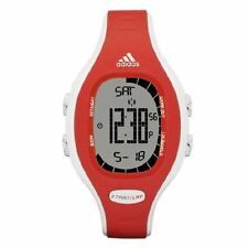 NEW-ADIDAS RED+WHITE DIGITAL POLYURETHANE BAND+CHRONOGRAPH SPORT WATCH-ADP3118