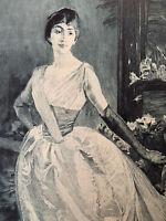 Albert Besnard gravure eau forte etching Étude De Femme Portrait De Mme R J