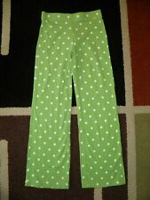 NWT Gymboree Girls Flower Garden Polka Dot Cropped Elastic Pants Size 2T