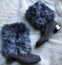 New Stuart Weitzman Blizzard Fur Cuff Boots 5 $895