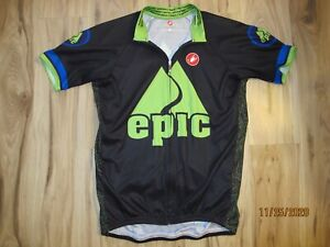 Castelli Epic Outdoor Adventures Short Sleeve Cycling Jersey  Men's XL Race Fit