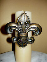 Fleur de Lis Candle Pin for Pillar Candles, New Orleans, Medieval, French, NEW