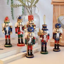 Christmas Decoration Tree Kids Doll Wooden Nutcracker Soldier New Year 1Pc 12cm