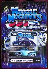 '41 WILLY'S Coupe 1:64 Scale by MUSCLE MACHINES 01-57  - Metallic Blue - NEW