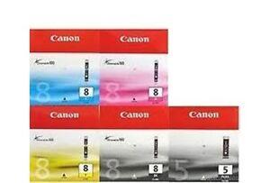 5 x Original Genuine CLI8 BK C Y M PGI 5 BK for Canon MP500 530 600 610 800