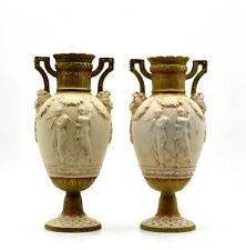 Royal Dux Pair Vases Porcelain Bohemian Art Nouveau Porcelain Vases Bohemia 1900