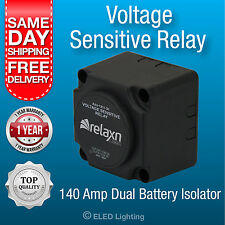 12v 160 amp DUAL BATTERY SYSTEM VOLTAGE SENSITIVE RELAY Heavy Duty VSR 12 Volt
