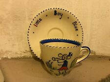 CROWN DUCAL Little Boy Blue Child's Cup and Saucer CHARLOTTE RHEAD c1930s