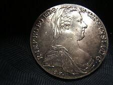2 Maria Theresa Silver Thaler Restrikes 1 UNC. & 1 Proof Gorgeous