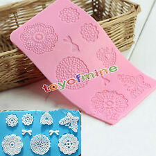 Silicone Lace Mat Butterfly Fondant Sugar Mould Cake Decorating Mold Tool