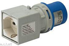 1081560 Adattatore CEE 3 poli 16 A/230 V IP 44, Spina CEE, Presa IT