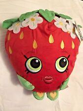Shopkins Strawberry Kiss Scented Pillow Buddy Toss Pillow New