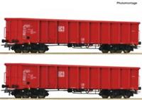 Roco 76726 HO Gauge DBAG Eanos-x Gondola Set (2) w/Coal Load VI