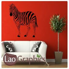 New listingSide Zebra Wall Stickers! Transfer Graphic Decal Decor Stencil Large Home Art Uk