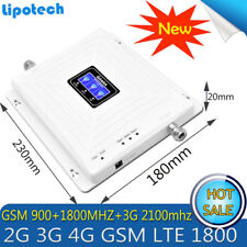 Repetidor Tri Band GSM 900 WCDMA 2100 LTE 1800 2G 3G 4G Cellular Signal Booster