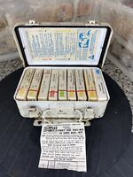 Vintage 1970s Metal ACME Cotton Products Co. Unit First Aid Kit Box #10 Pac 5004