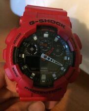 Casio G-Shock Red Resin Watch GA100B-4A