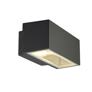 Intalite exterior IP44 BOX R7s wall light square anthracite r7s 80W up down IP44