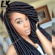 "14"" Soft Dreadlocks Twist Braids Crochet Synthetic Hair Extensions faux locs"