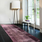 A Vintage 3' x 12' Geometric Purple Ground French Art Deco Runner Rug