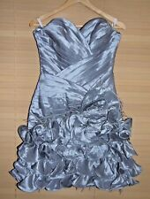 Tony Bowls Short Grey Dress Party Evening Prom BNWT RRP £380 size uk 12