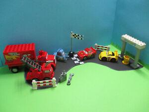 ( GB16 / 4 ) LEGO Duplo Cars Autos Set Lightening McQueen Mack Guido Disney