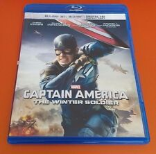 Marvel Captain America Winter Soldier Blu Ray with case art NEW No 3D No digital