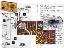 Regency TR-5C, TCR2-A, TR-7, & TR8A Electrolytic Capacitor Recap Kit
