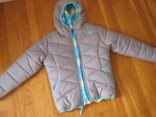 THE NORTH FACE REVERSIBLE PUFFER COAT perrito moondoggy jacket blue gray M 10 12