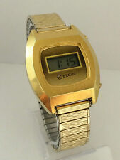 Elgin 3032-DK-502 Sanyo Module LCD LED Quartz Rare Vintage Watch Collectible
