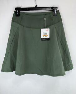 PUMA Women's Size S/P PWRSHAPE Solid Woven Golf Skirt Skort Green NEW