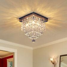 Homcom Crystal Light Ceiling Lamp Pendant Fixture Chandelier Metal Silver