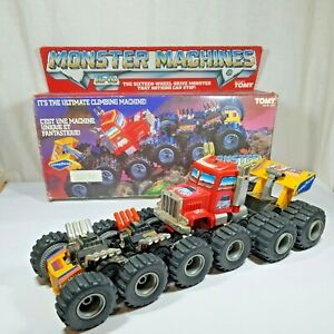 Monster Machines 16x16 Wheel Mad Masher Climbing Machine Truck Vintage Tomy 1986