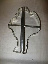 "Vintage Large Metal Santa Claus Cookie Cutter - 8.25"" Tall - Christmas"