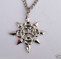 Kingdom Hearts II Metal Charm Necklace Chakram Axel Pandent Cosplay